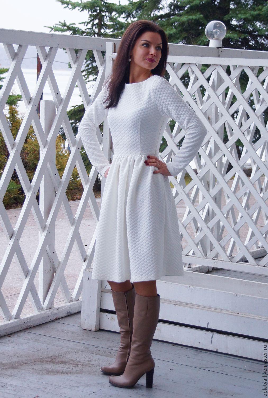 фото теплое платье
