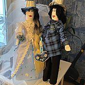 Куклы Тильда ручной работы. Ярмарка Мастеров - ручная работа Куклы Тильды свадебные. Handmade.