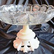 Винтаж handmade. Livemaster - original item ANTIQUE TABLE VASE CRYSTAL ALABASTER EUROPE ITALY. Handmade.