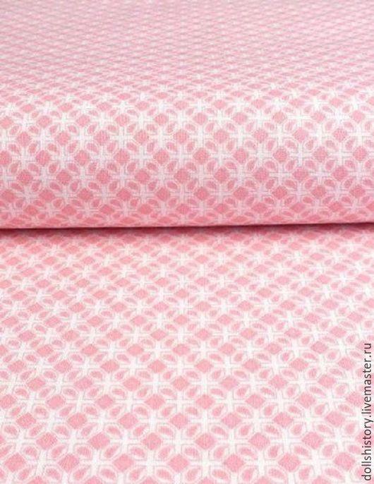 Розовый, ткань с узором, бортики, ткань для бортиков, купит  ткань, хлопок.