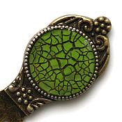 handmade. Livemaster - original item Bookmark Cobweb green. Handmade.