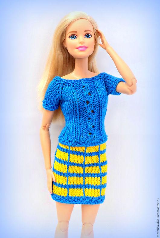 Одежда для кукол ручной работы. Ярмарка Мастеров - ручная работа. Купить Костюм для куклы Барби. Handmade. Вязаная одежда для кукол