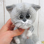 Куклы и игрушки handmade. Livemaster - original item Soft toys: cat crochet toy gray Zhadinka. Handmade.