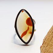 Украшения handmade. Livemaster - original item Ring with agate of heaven Keith 18.75 size. Handmade.