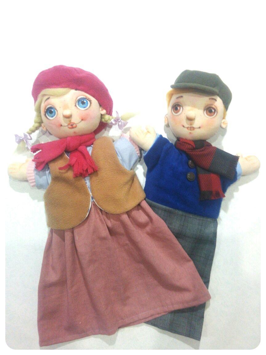 Кукольный театр. Перчаточные куклы. Девочка и Мальчик, Кукольный театр, Орел,  Фото №1