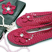 Обувь ручной работы. Ярмарка Мастеров - ручная работа Балетки на лето + клатч. Handmade.
