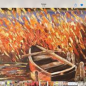Элементы интерьера ручной работы. Ярмарка Мастеров - ручная работа Желтая, оранжевая, прозрачная вода, порыв ветра, осен. Handmade.