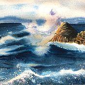 Картины и панно handmade. Livemaster - original item Sea, surf. Handmade.