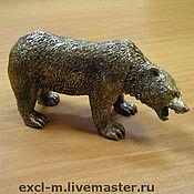 """Мини фигурки и статуэтки ручной работы. Ярмарка Мастеров - ручная работа Статуэтка """"Медведь"""". Handmade."""