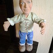 Куклы и игрушки ручной работы. Ярмарка Мастеров - ручная работа Портретная кукла из шерсти - Весенний жених. Handmade.