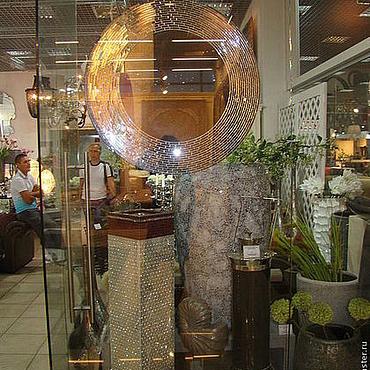 Для дома и интерьера ручной работы. Ярмарка Мастеров - ручная работа Зеркало в мозаичной раме, серебряная лагуна. Handmade.