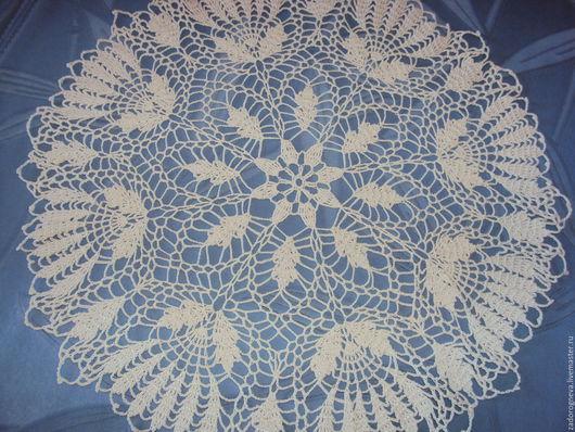 Текстиль, ковры ручной работы. Ярмарка Мастеров - ручная работа. Купить Салфетка 14. Handmade. Белый, крючком