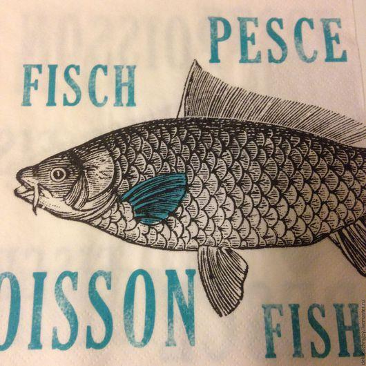 Рыбка-вобла - салфетка для декупажа Декупажная радость