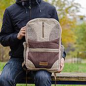 Конопляный рюкзак с двумя отделениями