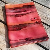 Сумки и аксессуары handmade. Livemaster - original item Handmade leather folder red author`s painting GOSART. Handmade.