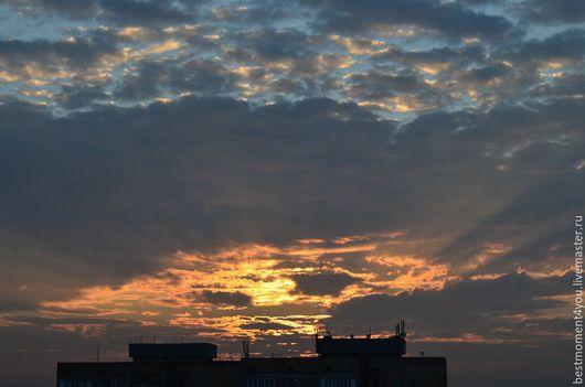 Фото-работы ручной работы. Ярмарка Мастеров - ручная работа. Купить Дорога в небо. Handmade. Синий, небо, закат, солнце
