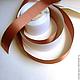 Винтажные предметы интерьера. Винтажная сатиновая лента - Оранжево-коричневая. Europa+. Интернет-магазин Ярмарка Мастеров. Лента, лента для украшений