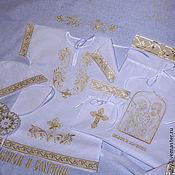"""Комплект для крещения ручной работы. Ярмарка Мастеров - ручная работа Комплект для крещения  """"Святое Семейство"""". Handmade."""