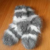Аксессуары ручной работы. Ярмарка Мастеров - ручная работа Носки из кроличьего пуха от 5 до 12лет (30-35 размеры). Handmade.
