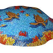"""Картины и панно ручной работы. Ярмарка Мастеров - ручная работа Панно """"морской мир"""", мозаика. Handmade."""