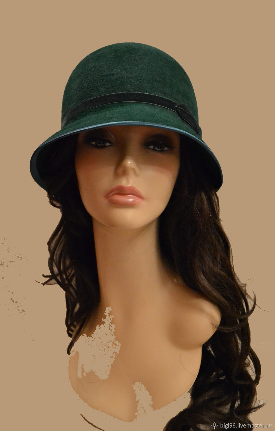 1536baae18c40 Fedoras   formal hats handmade. Livemaster - handmade. Buy Hat  Emerald .