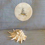 """Для дома и интерьера ручной работы. Ярмарка Мастеров - ручная работа Покрывало """"Регата"""". Handmade."""