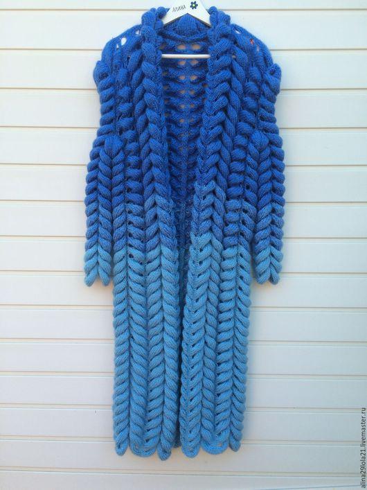 Кофты и свитера ручной работы. Ярмарка Мастеров - ручная работа. Купить Кардиган в стиле лало (Азиатский колосок). Handmade. Голубой