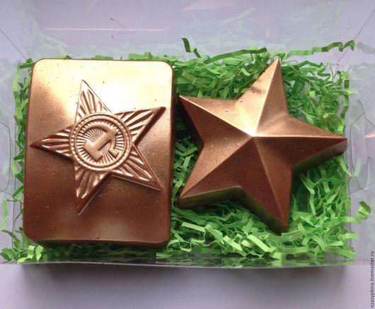 """Подарочные наборы косметики ручной работы. Ярмарка Мастеров - ручная работа. Купить Подарочный набор мыла """"Бляха и звезда"""" - готовый подарок мужчине. Handmade."""