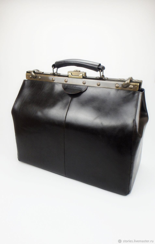 Men's leather bag, large bag, travel bag, men's bag, Valise, Dubna,  Фото №1