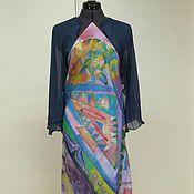 Одежда ручной работы. Ярмарка Мастеров - ручная работа Шелковое платье и болеро. Handmade.