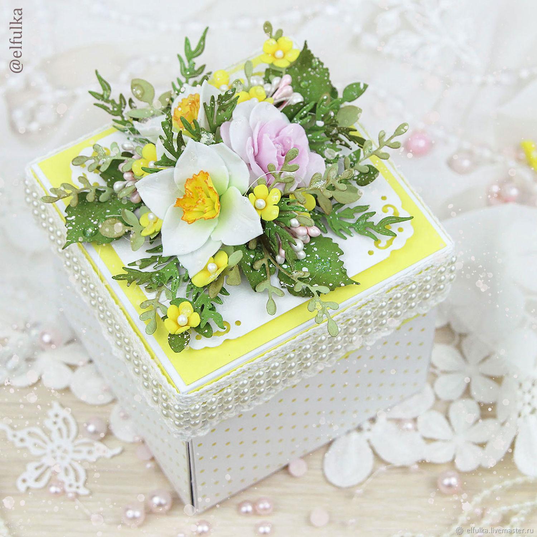Открытка сюрприз с цветком