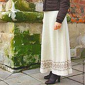 Одежда ручной работы. Ярмарка Мастеров - ручная работа Юбка зима-весна Молоко и кофе. Handmade.