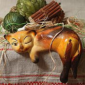 Для дома и интерьера handmade. Livemaster - original item Sugar - ceramic cat. Handmade.