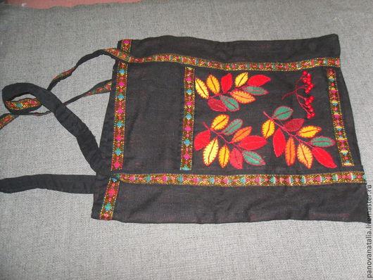 Женские сумки ручной работы. Ярмарка Мастеров - ручная работа. Купить Сумка с листьями. Handmade. Рисунок, лист, тесьма