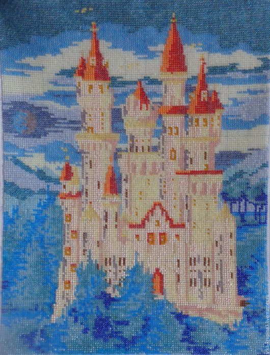 Фантазийные сюжеты ручной работы. Ярмарка Мастеров - ручная работа. Купить Замок феи. Handmade. Голубой, зима, деревья
