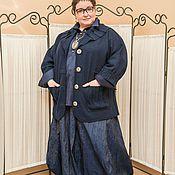 Луки для весны: юбка, рубашка,жакет из валяной шерсти