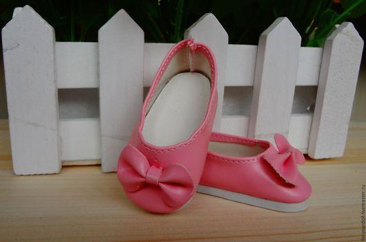Куклы и игрушки ручной работы. Ярмарка Мастеров - ручная работа. Купить Обувь для кукол - туфли 5,5см розовые. Handmade.