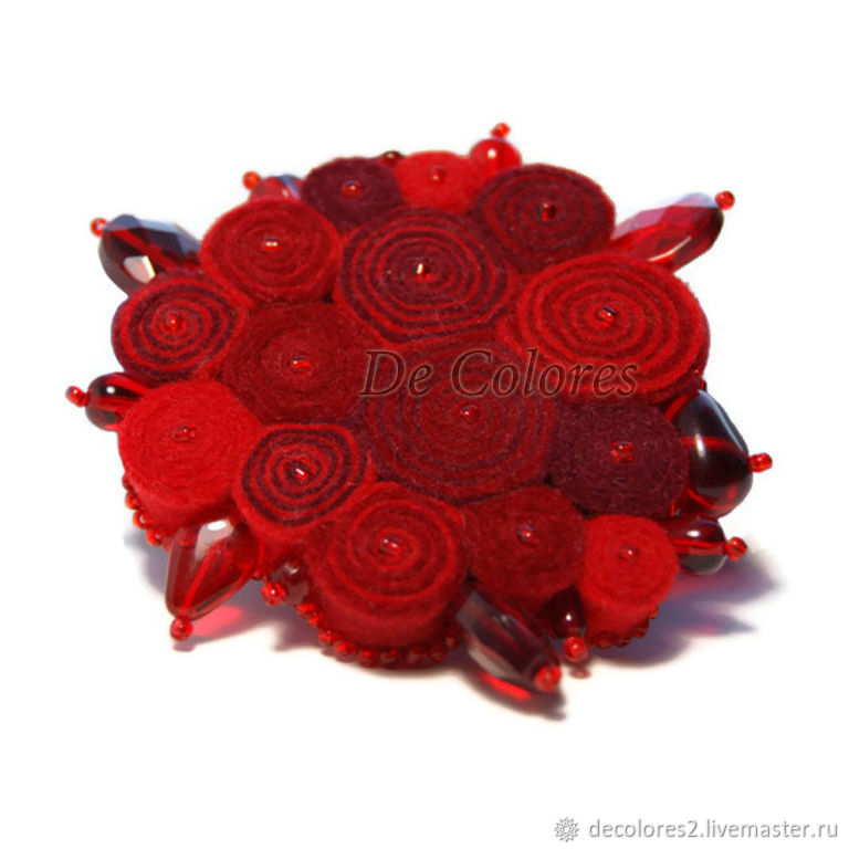 Brooch Red Energy, Brooches, Moscow,  Фото №1