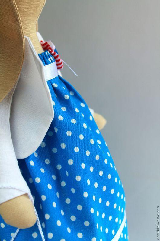 Куклы Тильды ручной работы. Ярмарка Мастеров - ручная работа. Купить зайка тильда. Зайка-девочка, зайка текстильная, интерьерная игрушка, синий, белый, голубой, красный