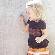 """Работы для детей, ручной работы. Ярмарка Мастеров - ручная работа Войлочный топ для девочки """"Шоколадка"""". Handmade."""