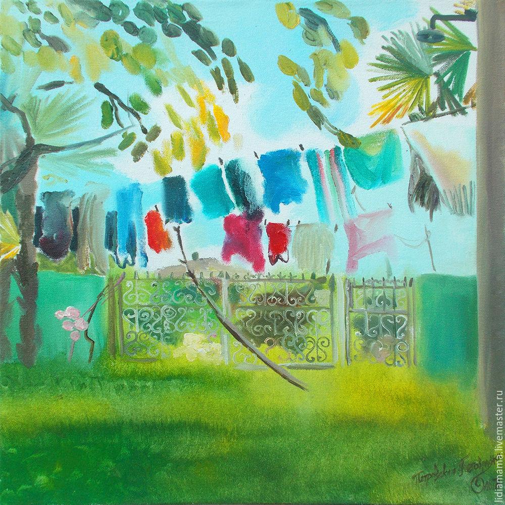 We are home the artwork by Olga Petrovskaya-Petovraji