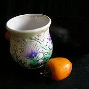 Посуда ручной работы. Ярмарка Мастеров - ручная работа Цветок репейника Хюгге. Handmade.