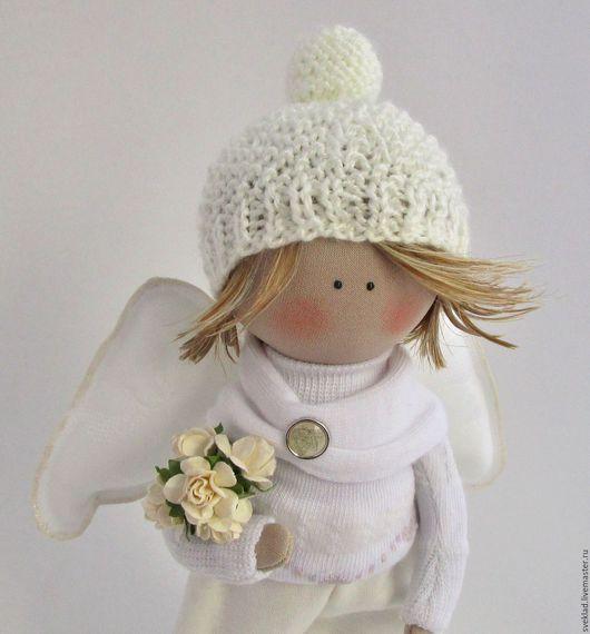 Коллекционные куклы ручной работы. Ярмарка Мастеров - ручная работа. Купить Интерьерная кукла. Ангелочек.. Handmade. Белый, текстильная кукла