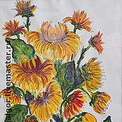 Картины и панно ручной работы. Ярмарка Мастеров - ручная работа Желтые хризантемы. Handmade.