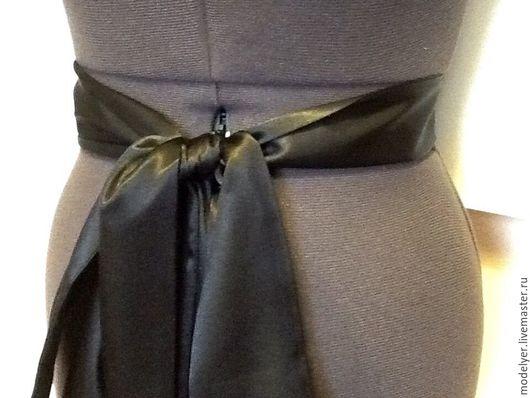 Пояса, ремни ручной работы. Ярмарка Мастеров - ручная работа. Купить Атласные пояса в ассортименгте / универсальные. Handmade. Черный