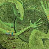 Картины ручной работы. Ярмарка Мастеров - ручная работа Зеленый шаман...Картина - принт на холсте.. Handmade.