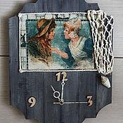 Для дома и интерьера handmade. Livemaster - original item A wall clock Girls from seaside. Hollands sketches.. Handmade.