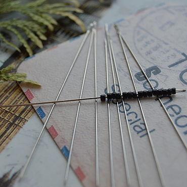 Материалы для творчества ручной работы. Ярмарка Мастеров - ручная работа Иглы для бисероплетения 55 х 0,45 мм. Handmade.
