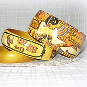 Украшения handmade. Livemaster - original item Gold set women wooden jewelry Gold Egypt. Yellow. Handmade.