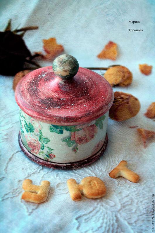 """Кухня ручной работы. Ярмарка Мастеров - ручная работа. Купить Короб-шкатулка для кухни """" Вдыхая розы аромат. Винтаж"""". Handmade."""